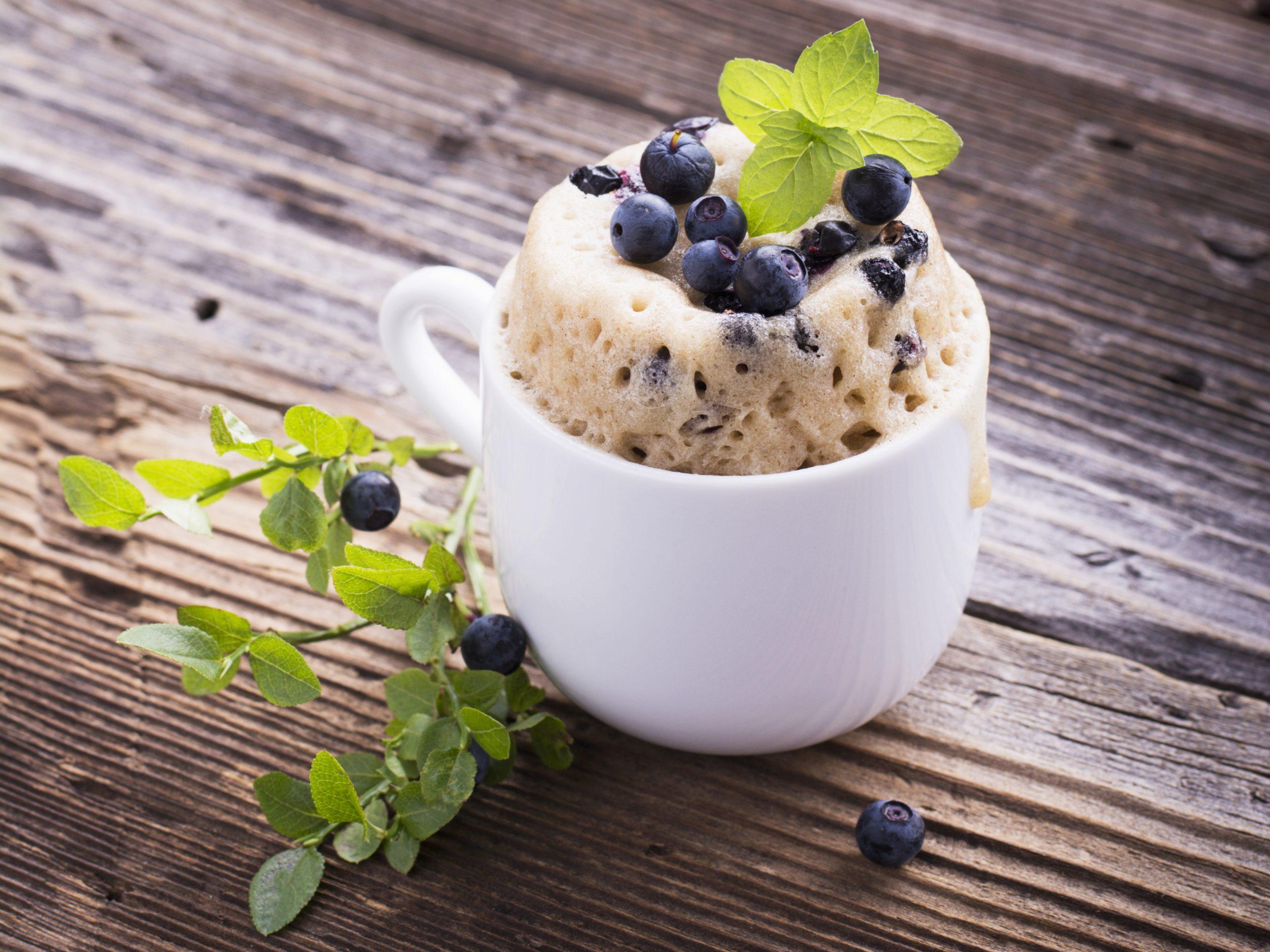 Kuchen Rezept Tassenkuchen Mit Vanille Und Heidelbeeren Invikoo